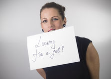 UNEMPLOYED WOMAN Royalty Free Stock Photography