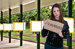 Unemployed Women Royalty Free Stock Photography