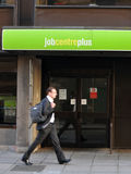 Unemployment. Exterior of a Job Centre Plus unemployment office in central London as the government announces a fall in the jobless rate of 17,000 to 2.48M or 7 Stock Images