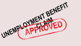 Unemployment Benefit Claim Approved Stamp Showing Social Security Welfare Agreed stock video