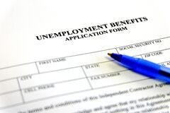 Free Unemployment Benefits Application Form Stock Images - 178212814