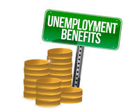Unemployment benefits coins. Illustration design over white Stock Photography