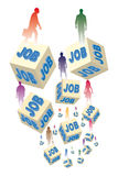 Unemployment and jobs Royalty Free Stock Photo