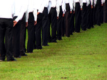 Unemployment Line. Marketing executives line up for their interview for a government job in India Stock Images
