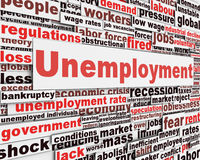 Unemployment message concept. Jobs crisis concept Stock Photos