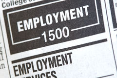 Unemployment News Royalty Free Stock Photos