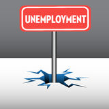 Unemployment plate Stock Image