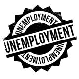 Unemployment rubber stamp Stock Image