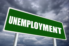 Unemployment sign Royalty Free Stock Photos