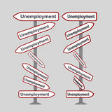 Unemployment signals Stock Photo