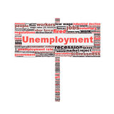 Unemployment symbol conceptual design Royalty Free Stock Photo
