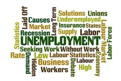 Unemployment Word Cloud stock photography