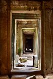 Unending entrance in Angkor royalty free stock images