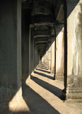 Unending gallery at Angkor Wat, Cambodia Royalty Free Stock Photo