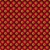 Unending raster gold red. Endless luxury retro underlying grid for packaging printing, paper, wallpaper, tiles and ceremonial textiles and accessories. Raster stock illustration
