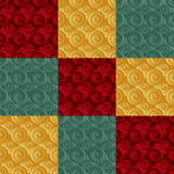 Unending raster green. Endless luxury retro underlying grid for packaging printing, paper, wallpaper, tiles and ceremonial textiles and accessories. Raster royalty free illustration