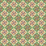 Unending raster green star. Endless luxury retro underlying grid for packaging printing, paper, wallpaper, tiles and ceremonial textiles and accessories Stock Illustration