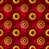 Unending raster red gold. Endless luxury retro underlying grid for packaging printing, paper, wallpaper, tiles and ceremonial textiles and accessories. Raster vector illustration
