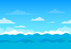 Unending Sea Background Royalty Free Stock Images
