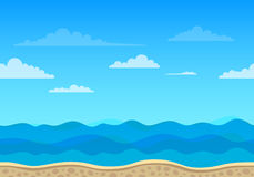 Unending Sea Background Stock Image