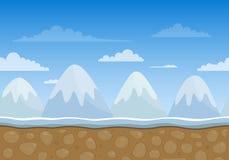 Unending Winter Landscape Stock Image
