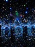 Unendlichkeit spiegelte den Raum wider, der mit dem Briliants des Lebens Yayoi Kusama gefüllt wurde Stockbild