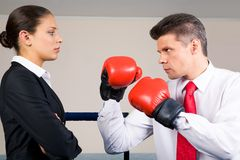 Unequal fight Royalty Free Stock Photo