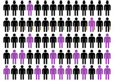 Unequality στο Μαύρο, πορφυρός και το λευκό 4 Στοκ φωτογραφίες με δικαίωμα ελεύθερης χρήσης