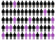 Unequality in black, purple and white 3 Royalty Free Stock Image