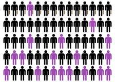 Unequality en negro, púrpura y el blanco 3 Imagen de archivo libre de regalías