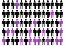 Unequality en negro, púrpura y el blanco 4 Fotos de archivo libres de regalías