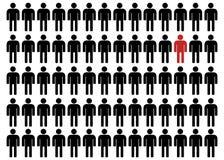 Unequality in Schwarzem und in Rotem stock abbildung