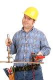 Unerfahren an der Klempnerarbeit Lizenzfreie Stockfotografie