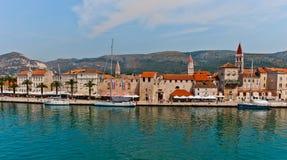 Unesco-arv Trogir i Kroatien Arkivfoto