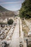 Unesco-arvplats av den forntida staden av Ephesus, Selcuk, Tur Fotografering för Bildbyråer