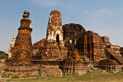 UNESCO ayutthaya temples in thailand Royalty Free Stock Photos