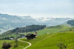 UNESCO biosfery rezerwa Entlebuch w środkowym Szwajcaria Obraz Stock