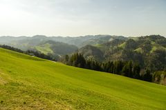UNESCO biosfery rezerwa Entlebuch w Szwajcaria Zdjęcie Royalty Free