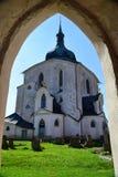 UNESCO church of St. John of Nepomuk on Zelena Hora (Green mount Stock Photo