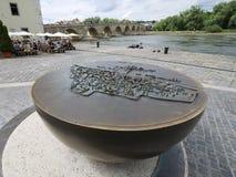 UNESCO-Denkmal in Regensburg Stockbild