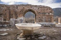 Unesco-Erfenisplaats van de Oude Stad van Ephesus, Selcuk, Tur Stock Foto