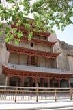 unesco för lokal för mogao för porslindunhuang grottoes Arkivbild