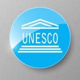 UNESCO Flag Button. Vector illustration. Royalty Free Stock Photography