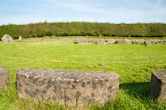 UNESCO Heritage - Circle Of Stones At Newgrange Royalty Free Stock Photography