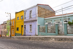 UNESCO heritage houses in Valparaiso Royalty Free Stock Photo