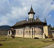 UNESCO heritage -Moldavian monasteries: Sucevita stock photography