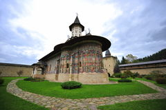 UNESCO heritage: the moldavian monastery Sucevita Royalty Free Stock Photo
