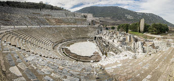 Unesco Heritage Site of the Ancient City of Ephesus, Selcuk, Tur Royalty Free Stock Image