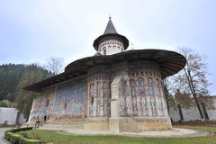 UNESCO heritage: Voronet monastery from Romania. Image of Voronet Monastery, Moldavia, Romania.The frescoes at Voronet feature an intense shade of blue known in Stock Photos