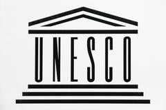 UNESCO logo na ścianie ilustracja wektor